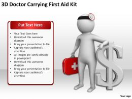 3D Doctor Carrying First Aid Kit Ppt Graphics Icons Powerpoint