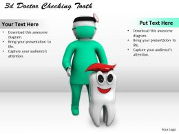 3d Doctor Checking Tooth Ppt Graphics Icons Powerpoint