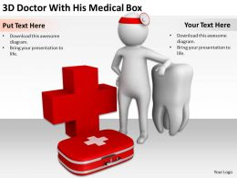 3D Doctor With His Medical Box Ppt Graphics Icons PowerPoint
