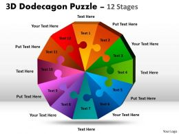 3D Dodecagon Puzzle diagram Process 5
