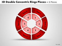 3d double concentric rings pieces circular 3