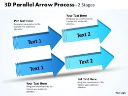 3D Double Parallel Arrow Process 2