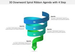 3d Downward Spiral Ribbon Agenda With 4 Step