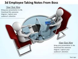 3d Employee Taking Notes From Boss Ppt Graphics Icons Powerpoint