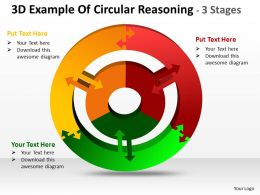 3D Example Of Circular diagram Reasoning 3 Stages 2