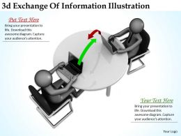 3d Exchnage Of Information Illustration Ppt Graphics Icons Powerpoint
