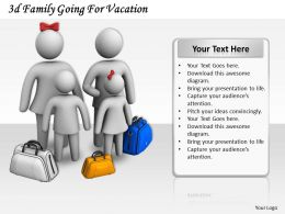 3d Family Going For Vacation Ppt Graphics Icons Powerpoint