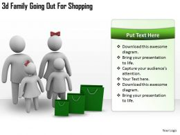 3d Family Going Out For Shopping Ppt Graphics Icons Powerpoint