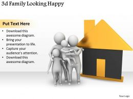 3d Family Looking Happy Ppt Graphics Icons Powerpoint