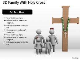 3d Family With Holy Cross Ppt Graphics Icons Powerpoint
