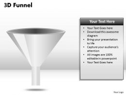 3D Funnel Design Diagram