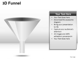 3D Funnel Powerpoint Presentation Slides