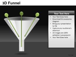 3D Funnel Powerpoint Presentation Slides DB