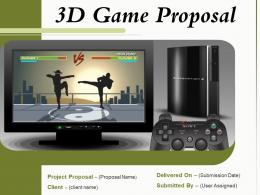 3D Game Proposal Powerpoint Presentation Slides