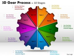 3D Gear Process 10 Stages Style 1