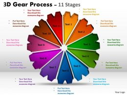 3D Gear Process 11 Stages Style 1