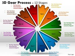 3D Gear Process 12 Stages Style 1