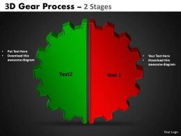 3D Gear Process 2 Stages Style 1 2
