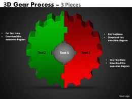 3D Gear Process 3 Pieces Style 3