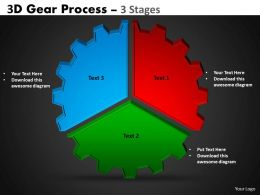 3D Gear Process 3 Stages Style 1 2