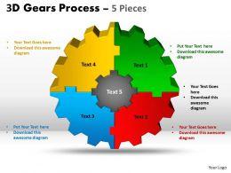 3D Gear Process 5 Pieces