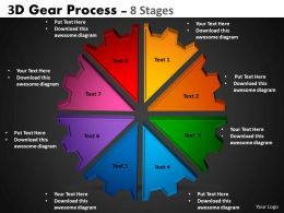 3D Gear Process 8 Stages Style 1