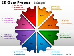3D Gear Process 8 Stages templates Style 1