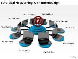 3D Gloabl Networking With Internet Sign Ppt Graphics Icons