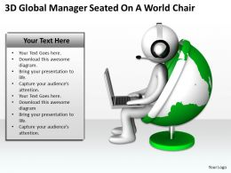 3d_global_manager_seated_on_a_world_chair_ppt_graphics_icons_powerpoint_Slide01