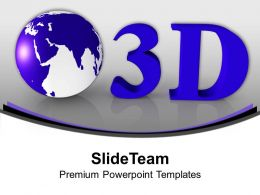 3d Globe Isolated Over White Background PowerPoint Templates PPT Themes And Graphics 0213