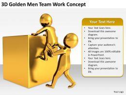 3D Golden Men Team Work Concept Ppt Graphics Icons Powerpoint