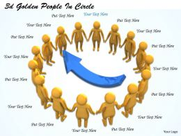 3d Golden People In Circle Ppt Graphics Icons Powerpoint