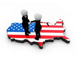 3D Graphic For American Relation Stock Photo