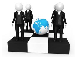 3d Graphic For Global Business Meeting Stock Photo