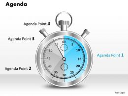 3d Graphic Of Alarm Clock For Business Agenda 0214