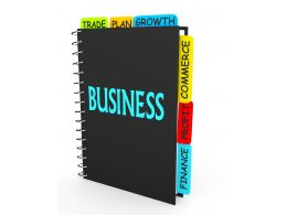 3D Graphic Of Business Book With Multiple Skills Stock Photo