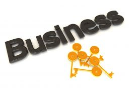 3D Graphic Of Business Word Stock Photo