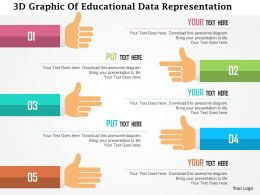 3d Graphic Of Educational Data Representation Flat Powerpoint Design