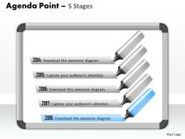3d Graphic Of Five Stage Agenda Display 0214