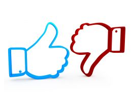3D Graphic Of Like And Dislike Stock Photo