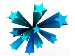 3D Graphic Of Stars In Blue Color Stock Photo