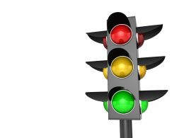 3D Graphic Of Traffic Signal Stock Photo