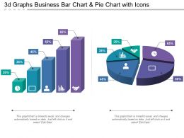 3d Graphs Business Bar Chart And Pie Chart With Icons