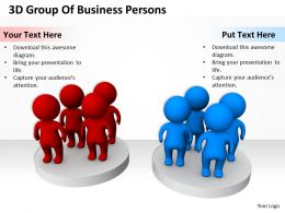 3D Group Of Business Persons Ppt Graphics Icons