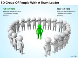 3D Group Of People With A Team Leader Ppt Graphics Icons Powerpoint