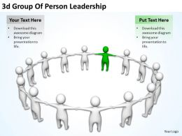 3d Group Of Person Leadership Ppt Graphics Icons