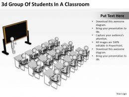 3d Group Of Students In A Classroom Ppt Graphics Icons