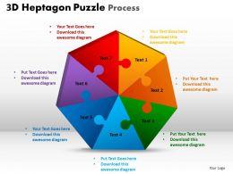 3D Heptagon Puzzle Process 1