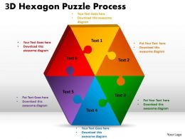 3D Hexagon Puzzle diagram Process 5