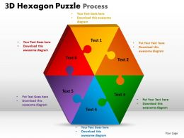 3D Hexagon Puzzle Process 1